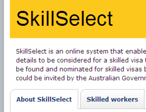 Next Skillselect Invitation Monday 10th February