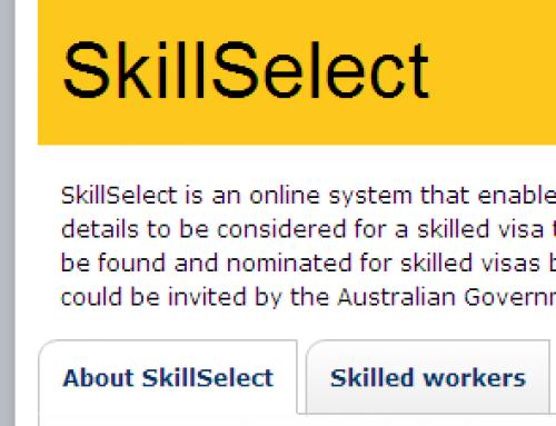 Next Skillselect Invitation Monday 10th February