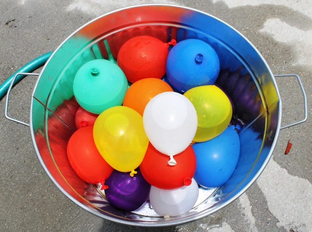 Water Bombs, a great way to keep cool whilst entertaining the kids