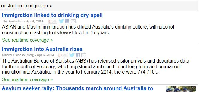 Australian immigration linked to dry spell