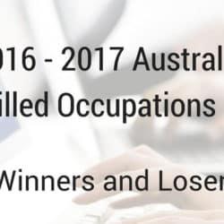 2016 - 2017 Australian Skilled Occupations List (SOL)