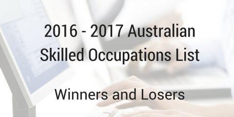 Australia Skilled Occupations List 2016 – 2017