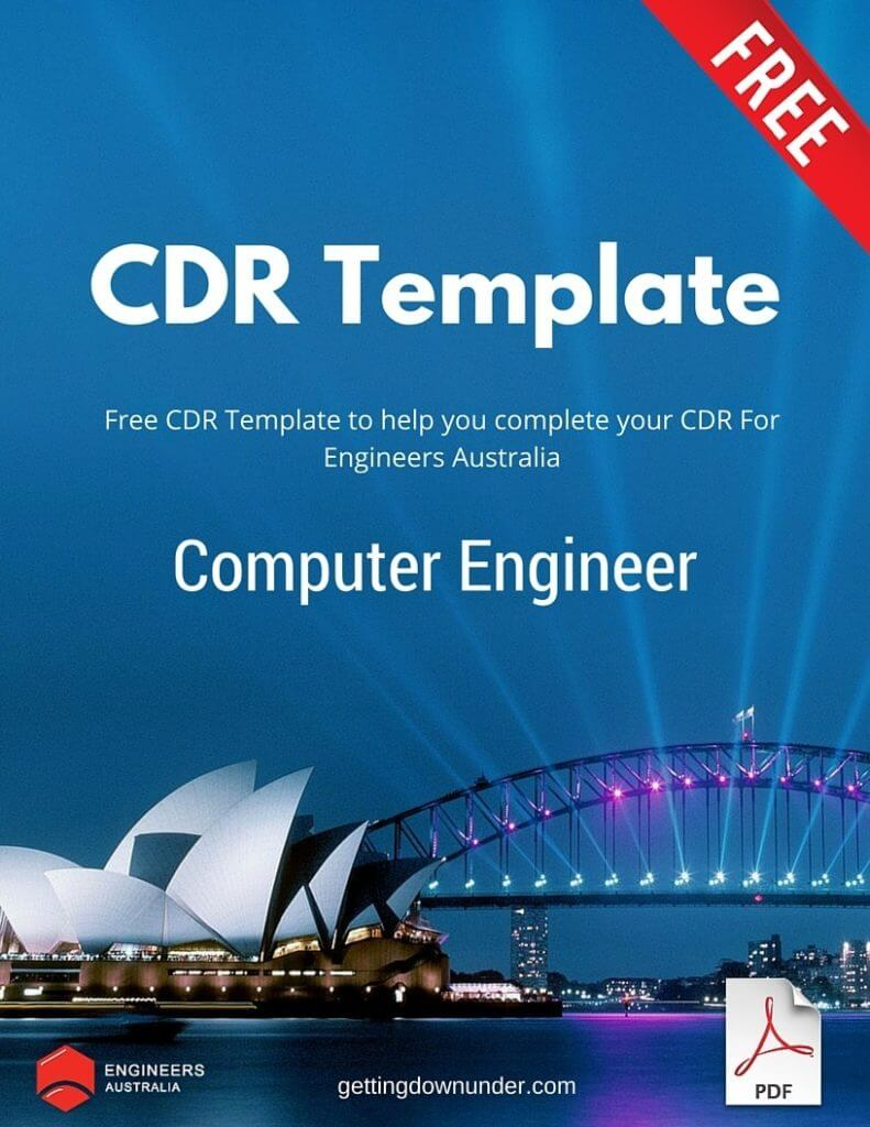 Free Computer Engineer CDR Template