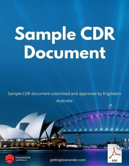 CDR Report Sample for Mechanical Engineering Discipline – ANZSCO CODE: 233512