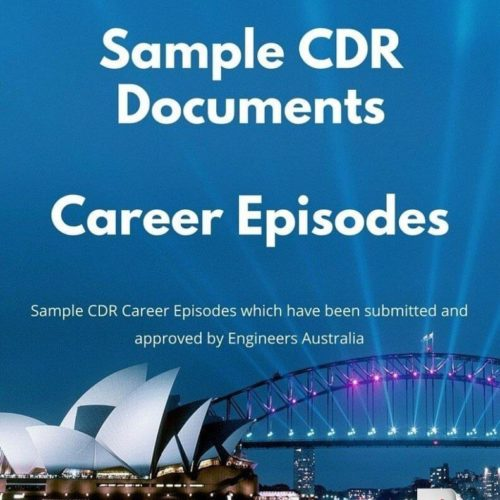 sample cdr documents career episodes