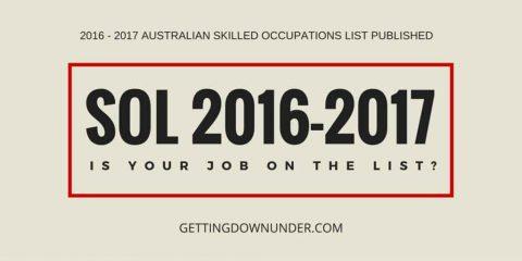 SOL 2016-17 Announced