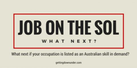My Job Is On The Australian SOL. What Next?