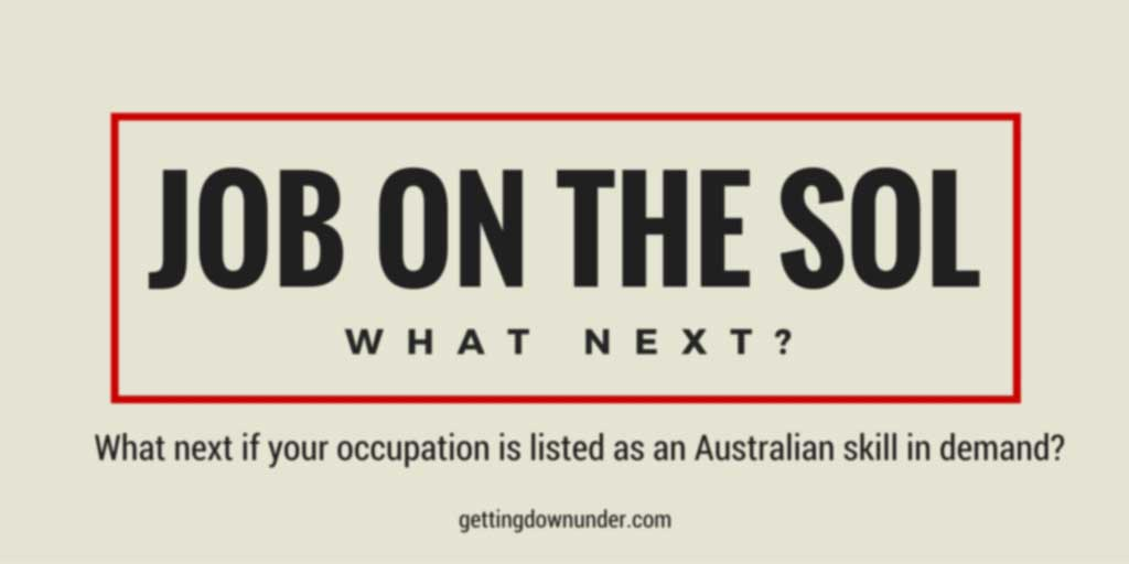 Job On The Australian SOL - What Next?
