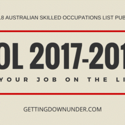 2017 - 2018 Australian Skilled Occupations List (Sol)