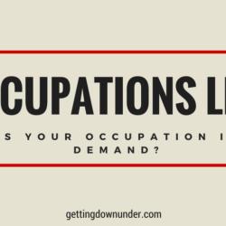 Australian Occupations List 2021