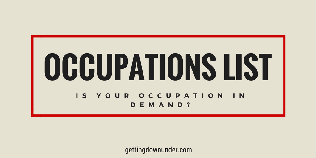Australian Occupations List