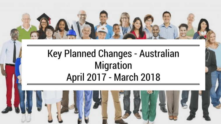 australia migration planned changes