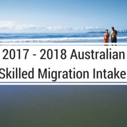 2017 - 2018 Skilled Migration Intake Announced - federal budget, migration intake - 2017 2018 Australian Migration Intake 1