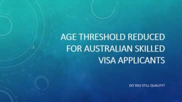 Australian skilled visa age threshold