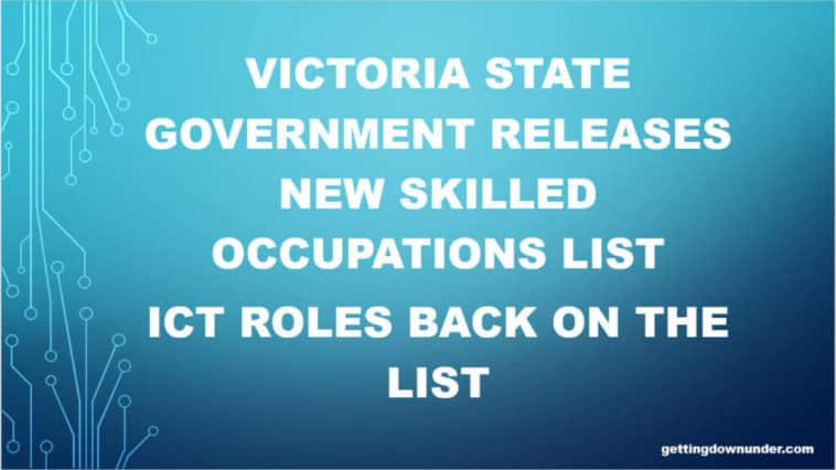 Victoria releases new Skilled Occupations List