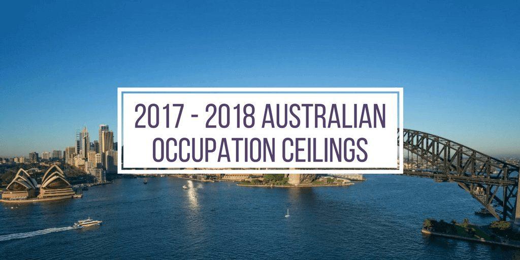 2017 - 2018 Australian occupation ceilings