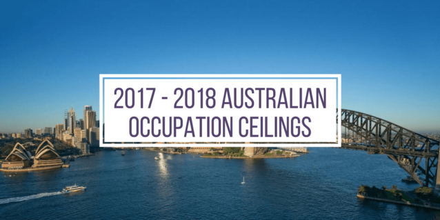 2017 - 2018 Australian occupation ceilings