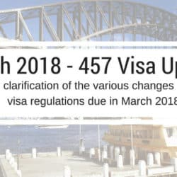 arch 2018 457 Visa Updates