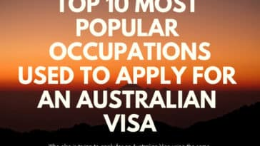 Top 10 Popular Occupations When Applying For An Australian Visa - Occupation ceiling - top 10 Most popular occupations