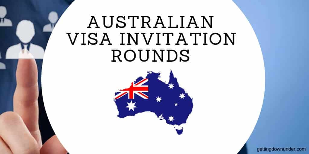 Australian Visa skilled select invitation rounds.