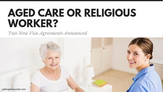 aged care or religious worker Australia visa