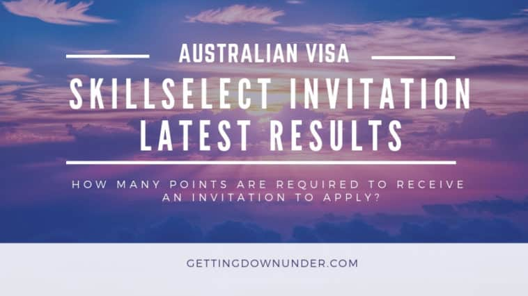 Australian visa skillselect invitation round results August 2020