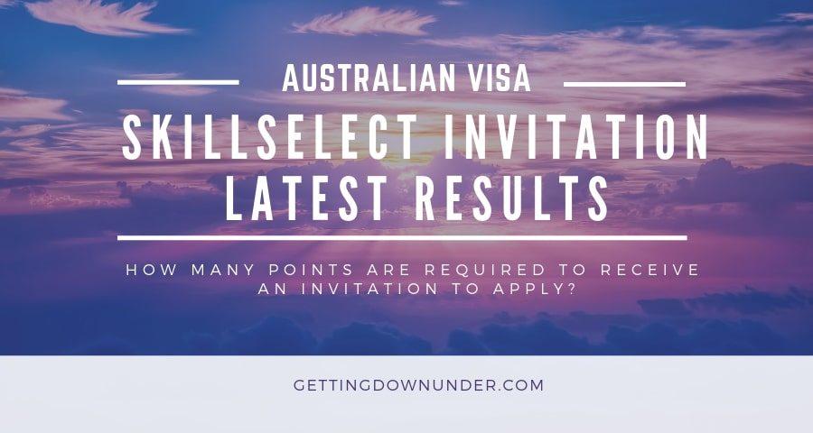 Australian visa skillselect invitation round results July 2020