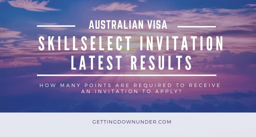Australian visa skillselect invitation round results July 2020
