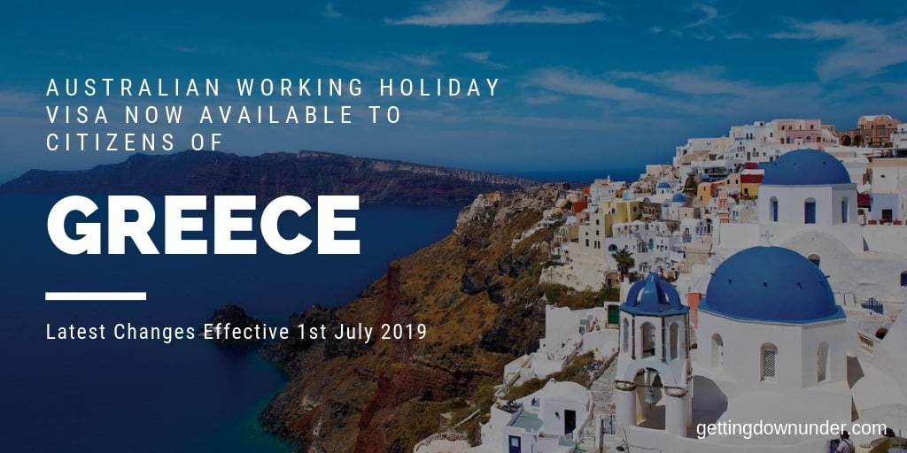 Greece Australia Working Holiday Visa