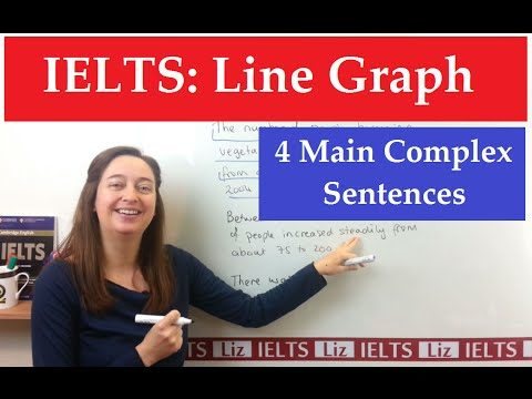 IELTS Line Graph: 4 Main Complex Sentence Stuctures - IELTS Line Graph 4 Main Complex Sentence Stuctures - Getting Down Under IELTS, ielts listening, ielts speaking, ielts writing, IELTS-Test