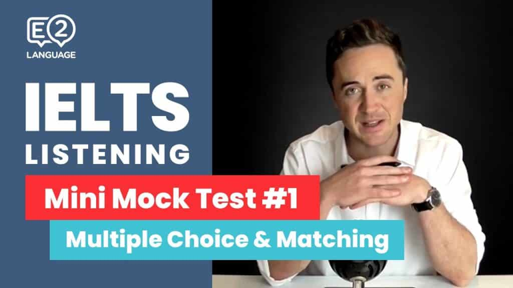 IELTS Listening: Mini Mock Test 1 | MULTIPLE CHOICE and MATCHING!