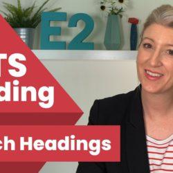 Ielts Reading Match Headings - Ielts Reading Match Headings E2Tasks With Alex