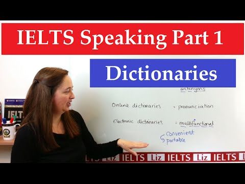 IELTS Speaking Part 1 New Topics: Dictionaries - IELTS Speaking Part 1 New Topics Dictionaries - Getting Down Under IELTS Speaking Videos