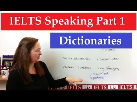 IELTS Speaking Part 1 New Topics: Dictionaries - IELTS, ielts listening, ielts speaking, ielts writing, IELTS-Test - IELTS Speaking Part 1 New Topics Dictionaries