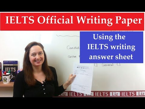 IELTS Writing: Using the Official Answer Sheet - IELTS Writing Using the Official Answer Sheet - Getting Down Under IELTS, ielts listening, ielts speaking, ielts writing, IELTS-Test