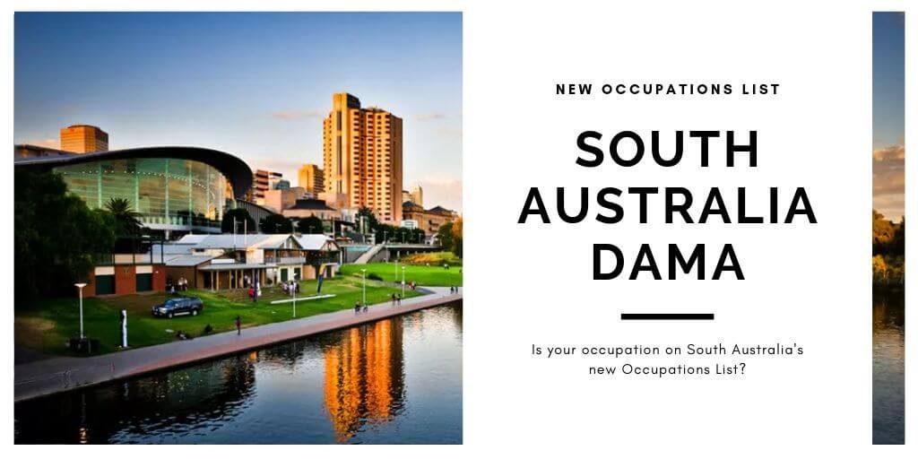 South Australia DAMA occupations list