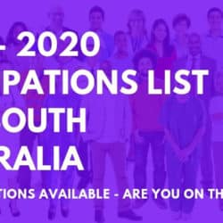 2019 - 2020 South Australia Occupations List
