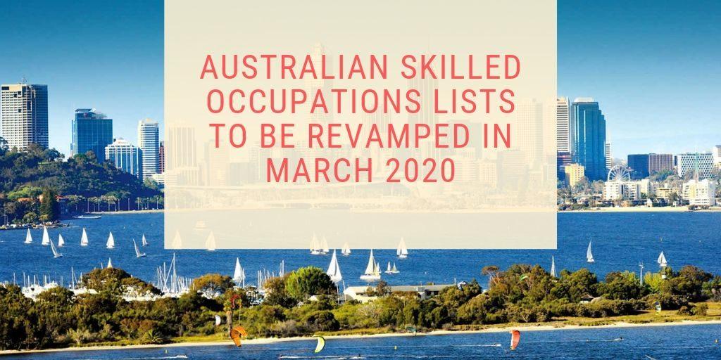 Australian Skilled Occupations List March 2020