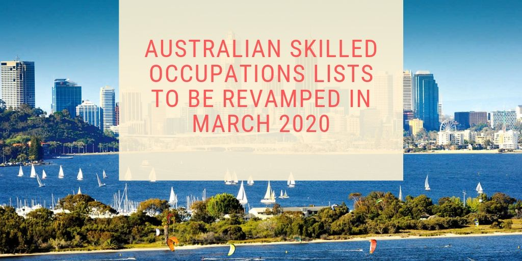 Australian Skilled Occupations List March 2020