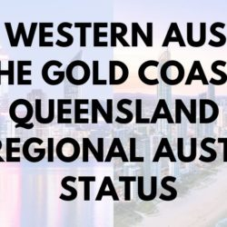 Perth and Gold Coast Regional Australia Status
