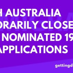 South Australia temporarily closes State Nominated 190 visa applications