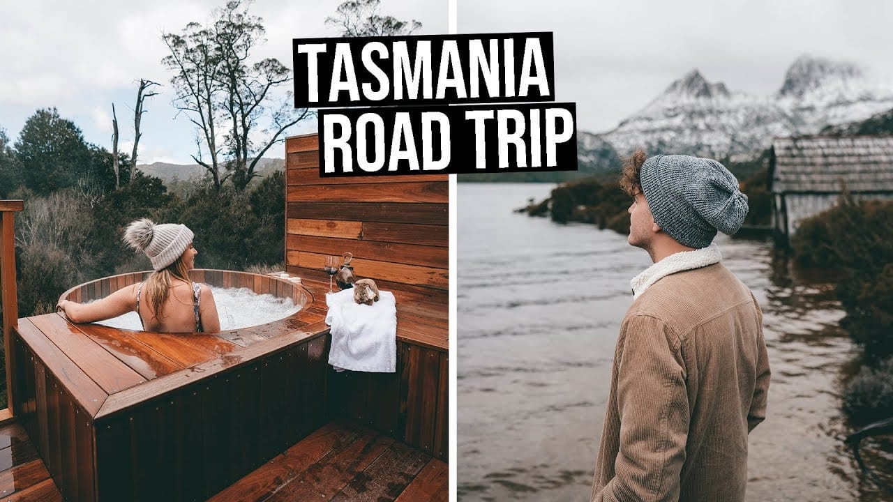 We Went on a Tasmania Road Trip | The Hidden Gem of Australia! - bruny island, cradle mountain, Cradle Mountain Lodge, daily travel vlog, flying the nest, heyitsjessvalentine, jess valentine, Peppers Cradle Mountain Lodge, port arthur, sparrystake, stephen parry, Tasmania Australia, tasmania road trip, Tasmania travel guide, tasmanian devil, tessellated pavement, travel australia, travel tasmania, travel vlog, wineglass bay - We Went on a Tasmania Road Trip The Hidden