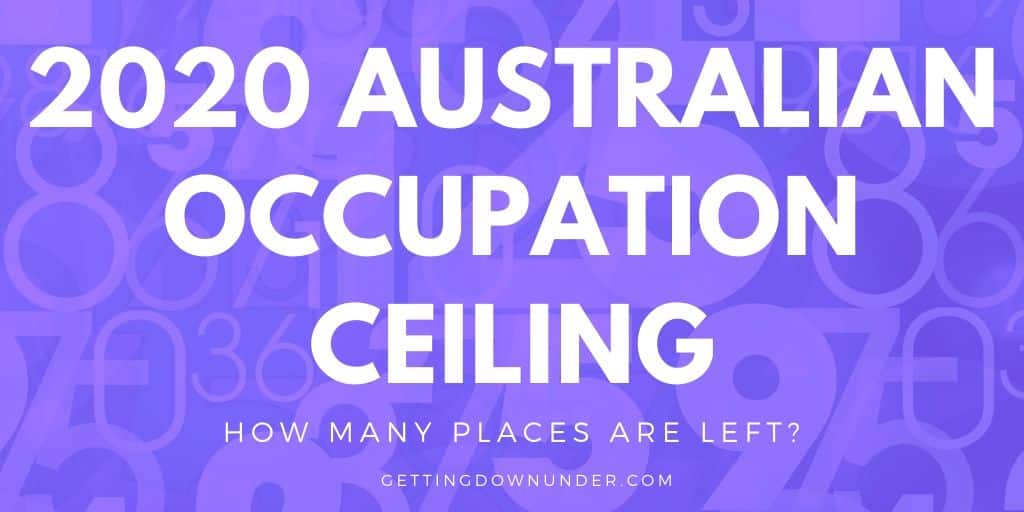 2020 Australian occupation ceiling