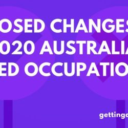 Proposed Changes To The 2020 Australia Skilled Occupations Lists