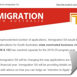 Subclass 188 132 Business Visa Capacity South Australia