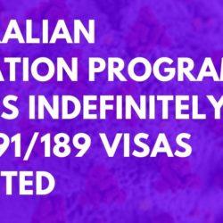 Migration Program Australia 2021 -190 - 491- 189 Visas