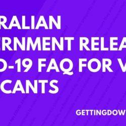 australian government releases covid-19 faq for visa applicants