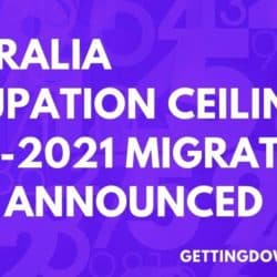 Australia Occupation Ceilings 2020-2021 Migration Year