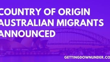 Country Of Origin Australian Migrants 2020