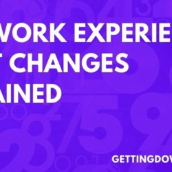 Dha Work Experience Point Changes Explained